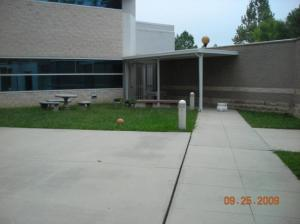 BEFORE: The courtyard in 2009.